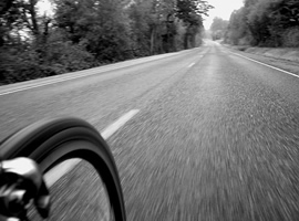bike on open road
