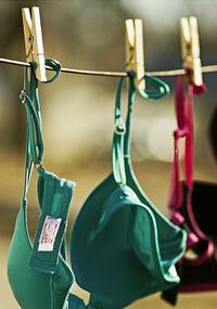 lingerie on the line