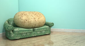 potato on sofa