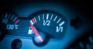 fuel gauge close to empty